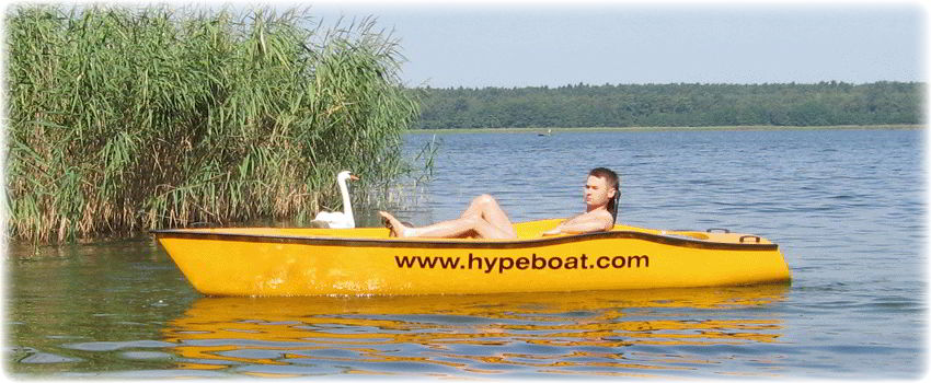 Single pedal boat.