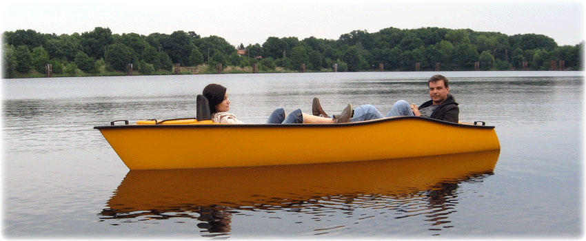 Double pedal boat.